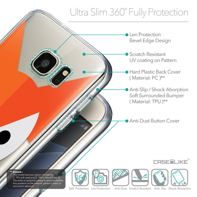 Details in English - CASEiLIKE Samsung Galaxy S7 back cover Animal Cartoon 3637