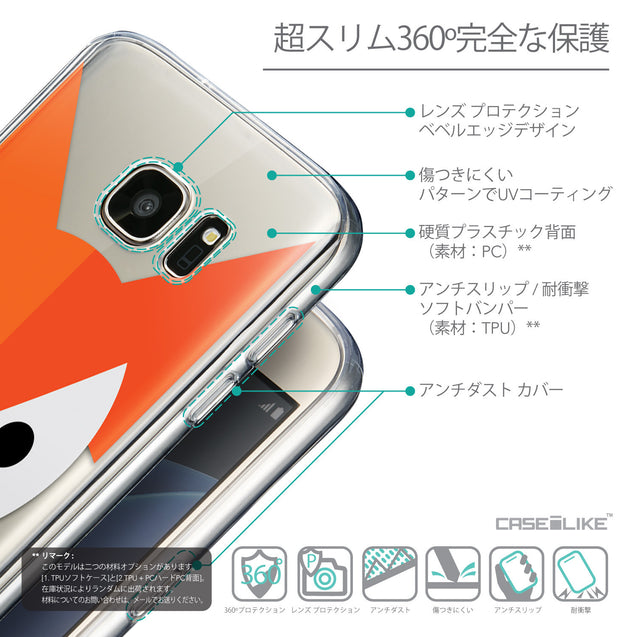 Details in Japanese - CASEiLIKE Samsung Galaxy S7 back cover Animal Cartoon 3637