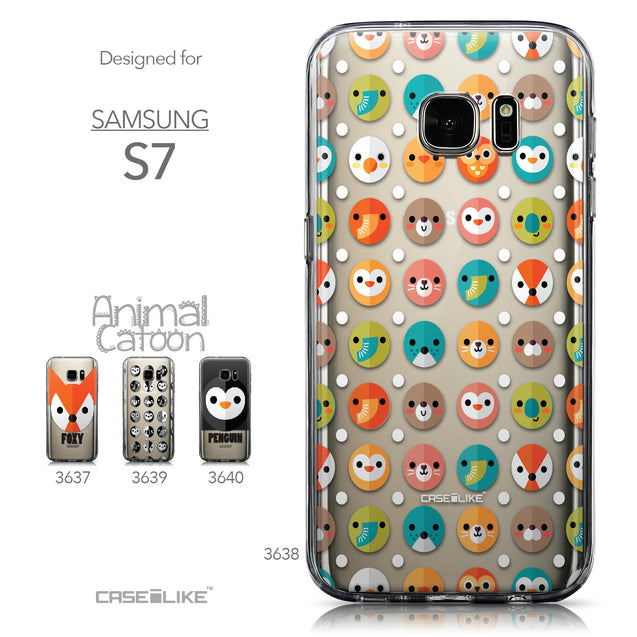 Collection - CASEiLIKE Samsung Galaxy S7 back cover Animal Cartoon 3638
