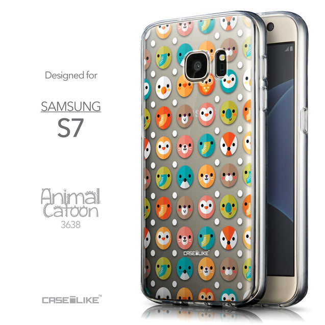 Front & Side View - CASEiLIKE Samsung Galaxy S7 back cover Animal Cartoon 3638