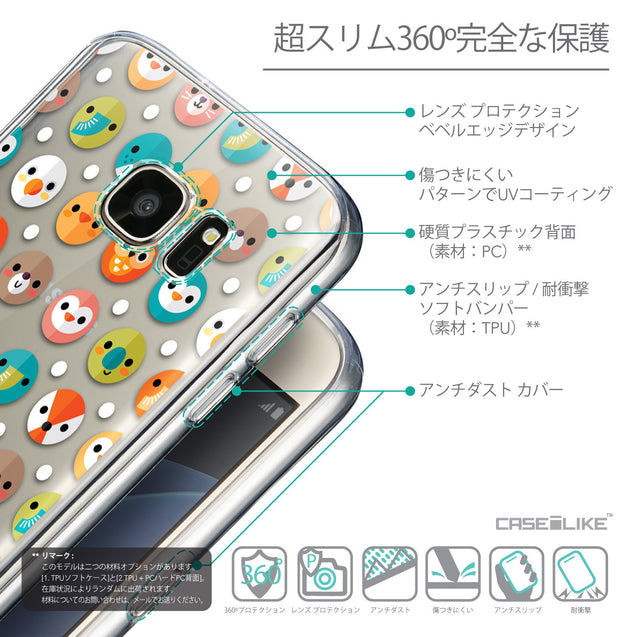 Details in Japanese - CASEiLIKE Samsung Galaxy S7 back cover Animal Cartoon 3638