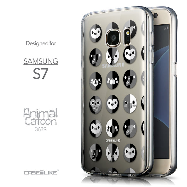 Front & Side View - CASEiLIKE Samsung Galaxy S7 back cover Animal Cartoon 3639