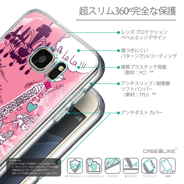 Details in Japanese - CASEiLIKE Samsung Galaxy S7 back cover Paris Holiday 3905
