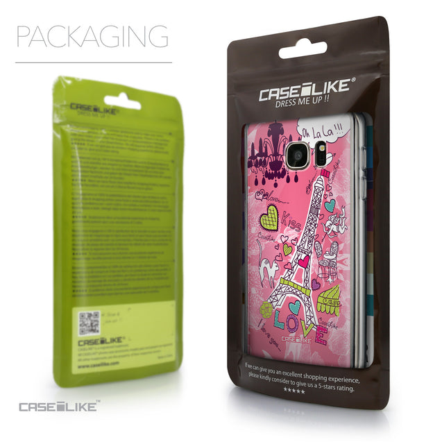 Packaging - CASEiLIKE Samsung Galaxy S7 back cover Paris Holiday 3905