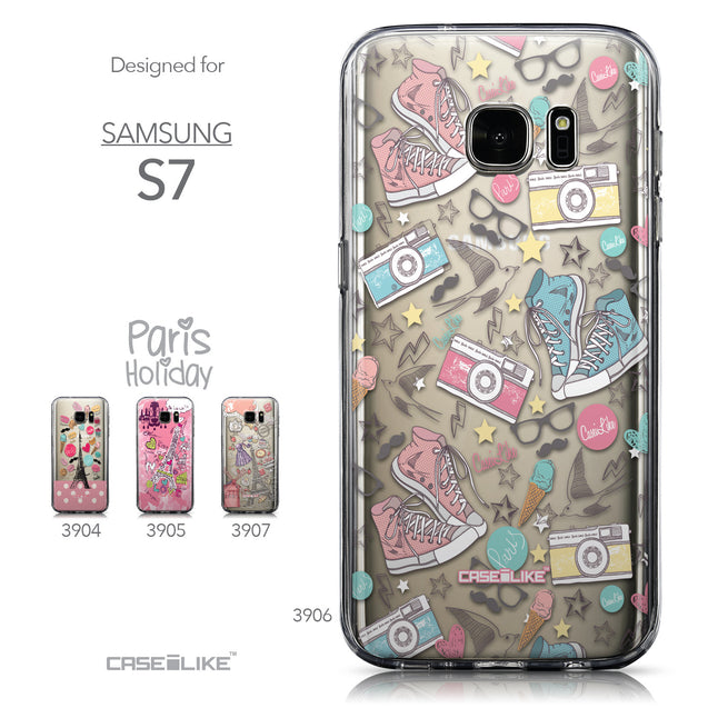 Collection - CASEiLIKE Samsung Galaxy S7 back cover Paris Holiday 3906