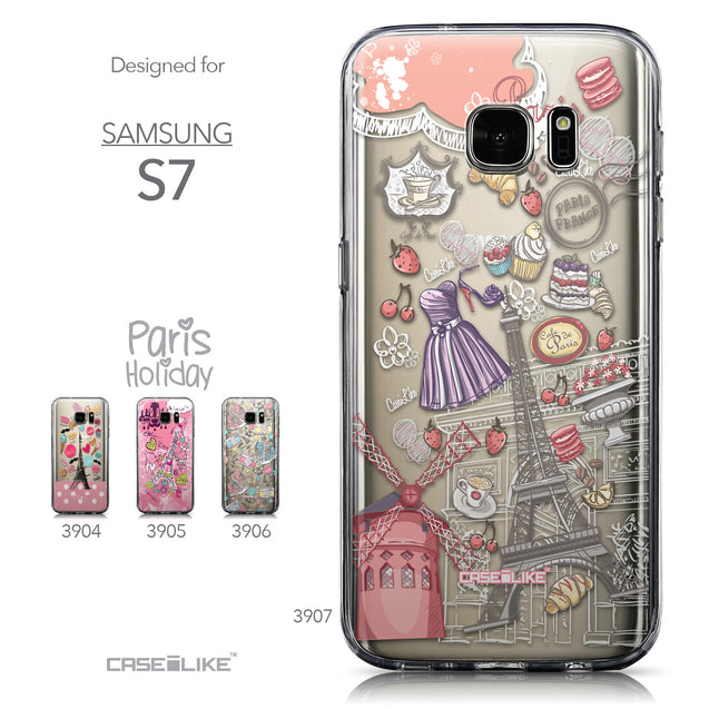 Collection - CASEiLIKE Samsung Galaxy S7 back cover Paris Holiday 3907