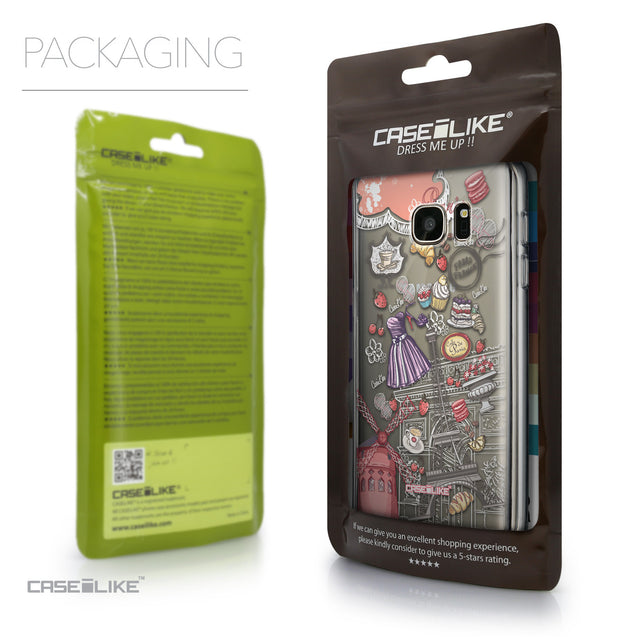 Packaging - CASEiLIKE Samsung Galaxy S7 back cover Paris Holiday 3907