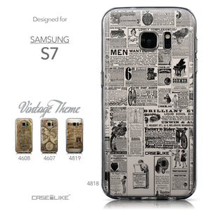 Collection - CASEiLIKE Samsung Galaxy S7 back cover Vintage Newspaper Advertising 4818