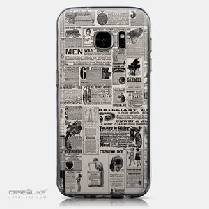 CASEiLIKE Samsung Galaxy S7 back cover Vintage Newspaper Advertising 4818