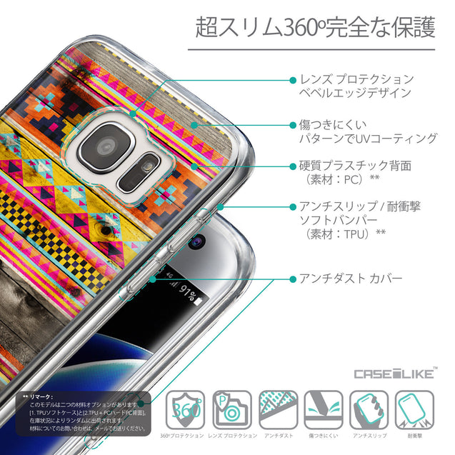 Details in Japanese - CASEiLIKE Samsung Galaxy S7 Edge back cover Indian Tribal Theme Pattern 2048