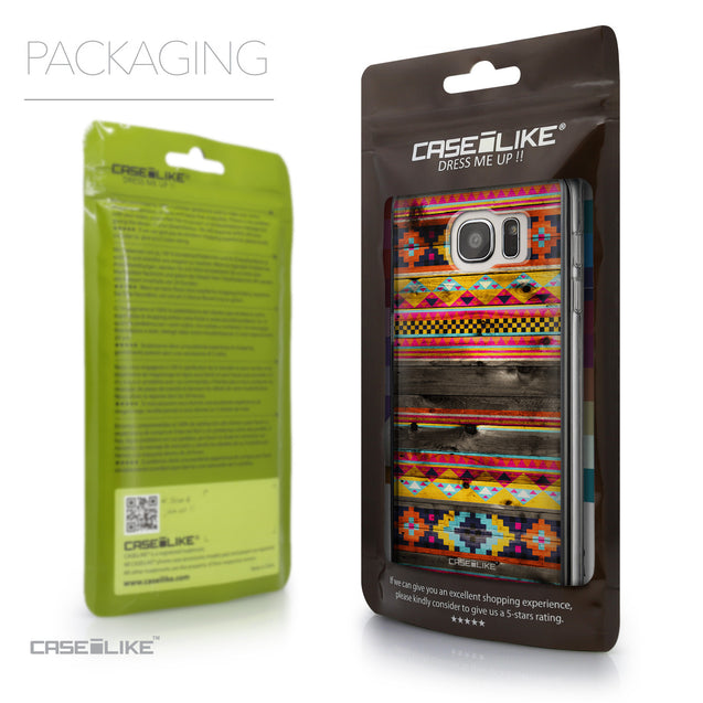 Packaging - CASEiLIKE Samsung Galaxy S7 Edge back cover Indian Tribal Theme Pattern 2048