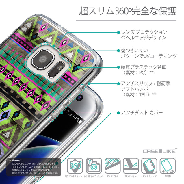 Details in Japanese - CASEiLIKE Samsung Galaxy S7 Edge back cover Indian Tribal Theme Pattern 2049