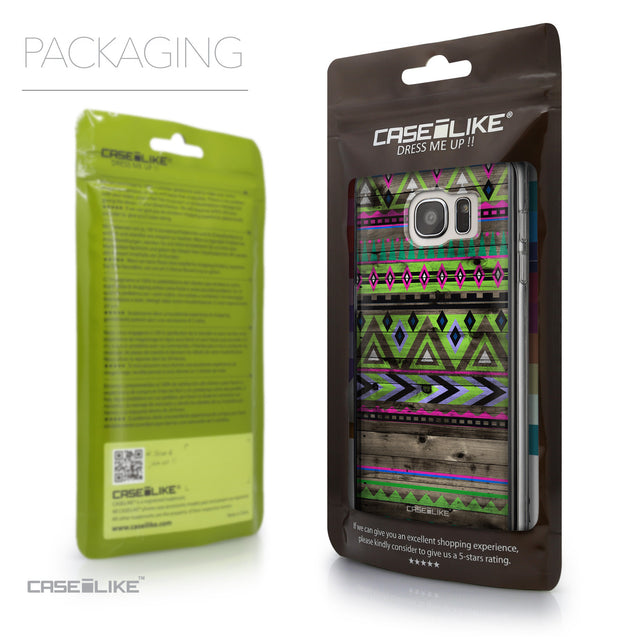Packaging - CASEiLIKE Samsung Galaxy S7 Edge back cover Indian Tribal Theme Pattern 2049