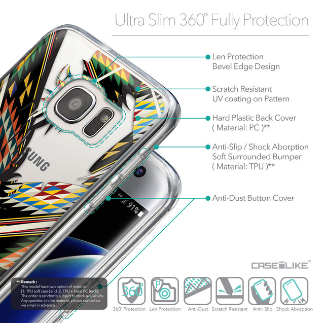 Details in English - CASEiLIKE Samsung Galaxy S7 Edge back cover Indian Tribal Theme Pattern 2053