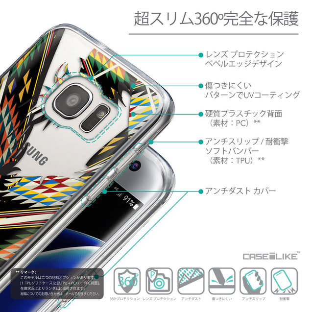 Details in Japanese - CASEiLIKE Samsung Galaxy S7 Edge back cover Indian Tribal Theme Pattern 2053