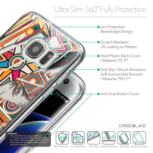 Details in English - CASEiLIKE Samsung Galaxy S7 Edge back cover Indian Tribal Theme Pattern 2054