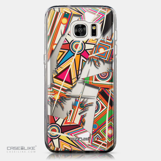 CASEiLIKE Samsung Galaxy S7 Edge back cover Indian Tribal Theme Pattern 2054