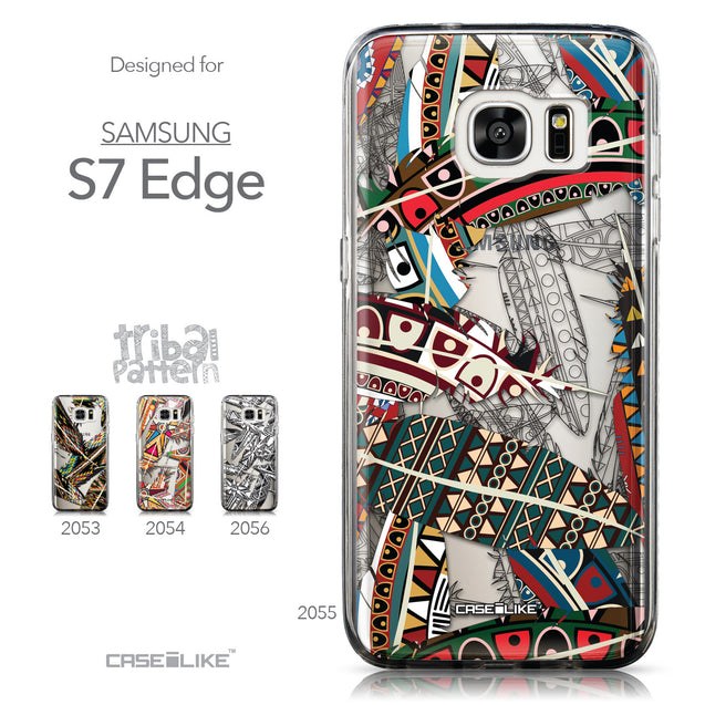 Collection - CASEiLIKE Samsung Galaxy S7 Edge back cover Indian Tribal Theme Pattern 2055
