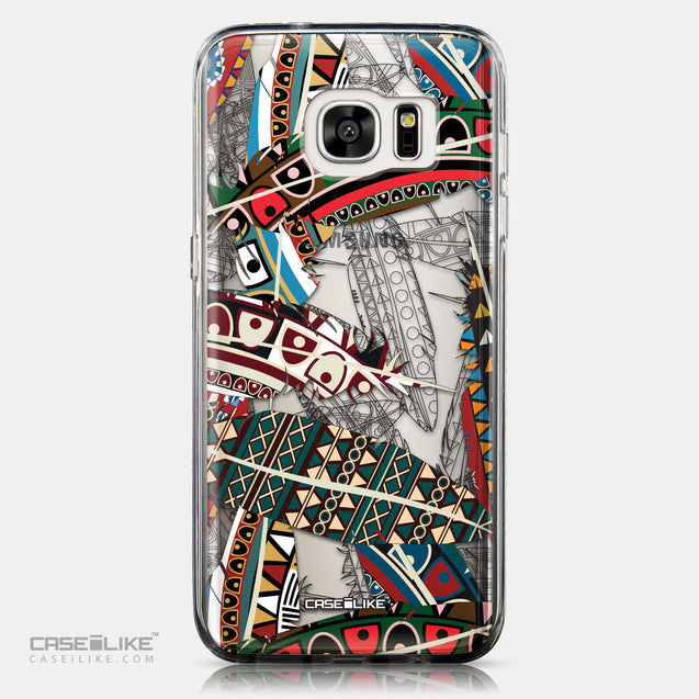 CASEiLIKE Samsung Galaxy S7 Edge back cover Indian Tribal Theme Pattern 2055