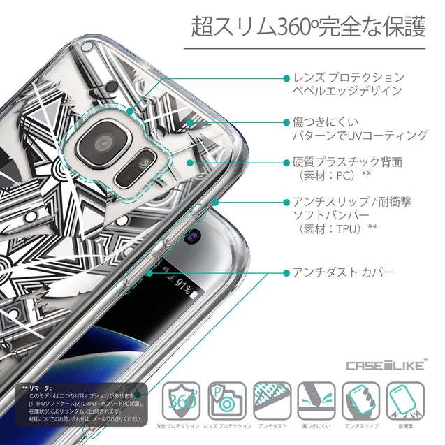 Details in Japanese - CASEiLIKE Samsung Galaxy S7 Edge back cover Indian Tribal Theme Pattern 2056