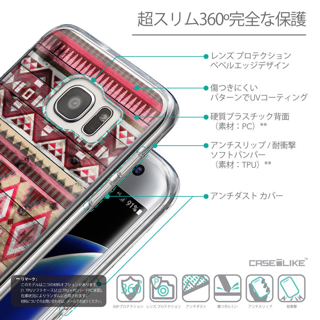 Details in Japanese - CASEiLIKE Samsung Galaxy S7 Edge back cover Indian Tribal Theme Pattern 2057