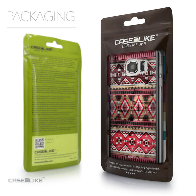 Packaging - CASEiLIKE Samsung Galaxy S7 Edge back cover Indian Tribal Theme Pattern 2057