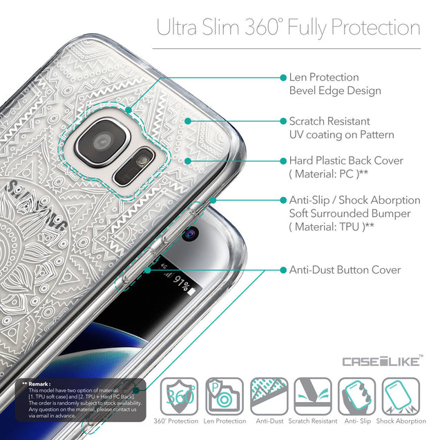Details in English - CASEiLIKE Samsung Galaxy S7 Edge back cover Indian Line Art 2061
