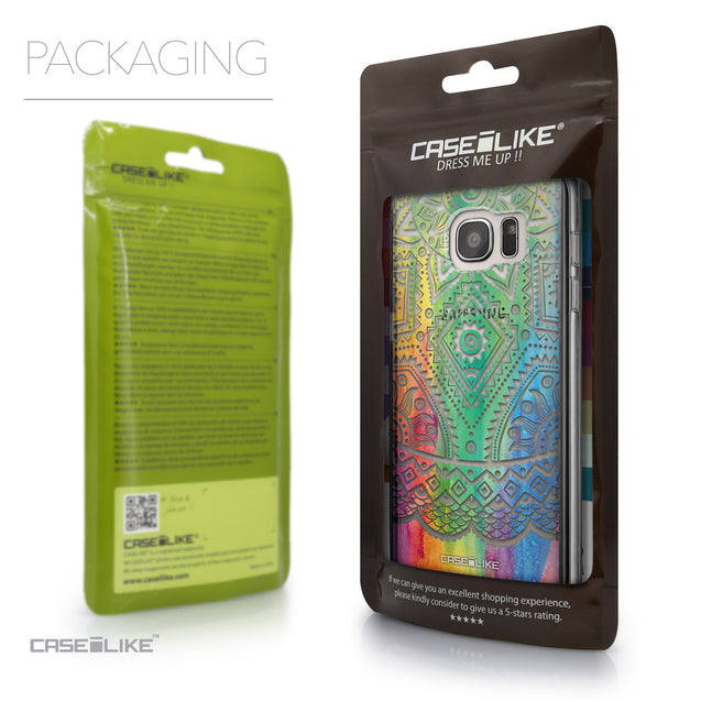 Packaging - CASEiLIKE Samsung Galaxy S7 Edge back cover Indian Line Art 2064