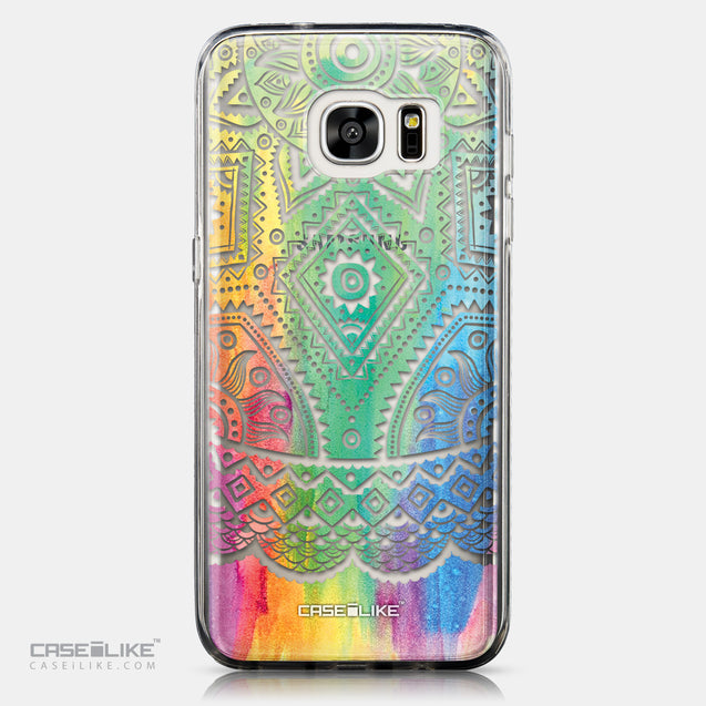 CASEiLIKE Samsung Galaxy S7 Edge back cover Indian Line Art 2064