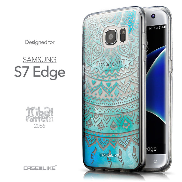 Front & Side View - CASEiLIKE Samsung Galaxy S7 Edge back cover Indian Line Art 2066