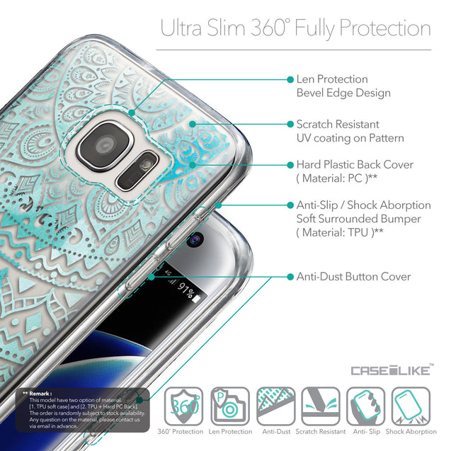 Details in English - CASEiLIKE Samsung Galaxy S7 Edge back cover Indian Line Art 2066