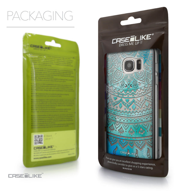 Packaging - CASEiLIKE Samsung Galaxy S7 Edge back cover Indian Line Art 2066