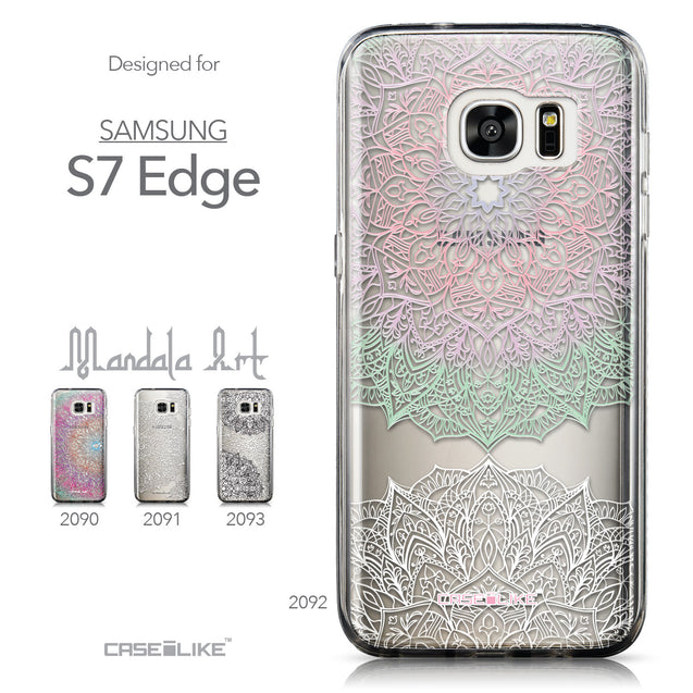 Collection - CASEiLIKE Samsung Galaxy S7 Edge back cover Mandala Art 2092