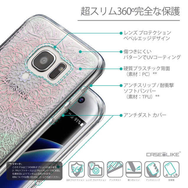 Details in Japanese - CASEiLIKE Samsung Galaxy S7 Edge back cover Mandala Art 2092