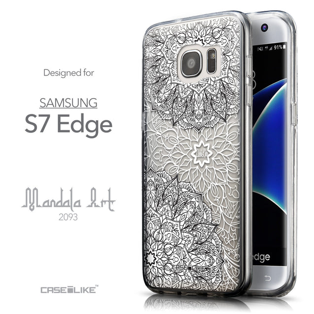 Front & Side View - CASEiLIKE Samsung Galaxy S7 Edge back cover Mandala Art 2093