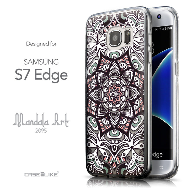 Front & Side View - CASEiLIKE Samsung Galaxy S7 Edge back cover Mandala Art 2095