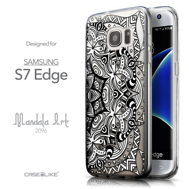 Front & Side View - CASEiLIKE Samsung Galaxy S7 Edge back cover Mandala Art 2096
