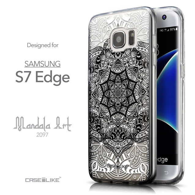 Front & Side View - CASEiLIKE Samsung Galaxy S7 Edge back cover Mandala Art 2097