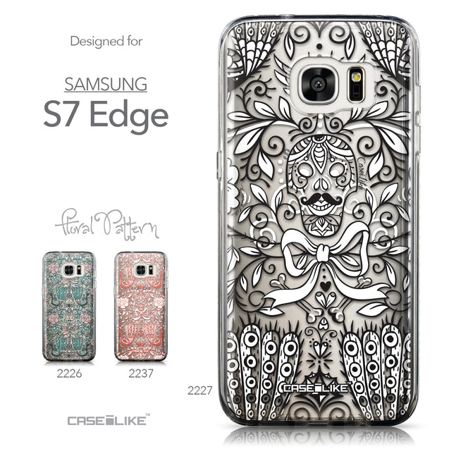 Collection - CASEiLIKE Samsung Galaxy S7 Edge back cover Roses Ornamental Skulls Peacocks 2227