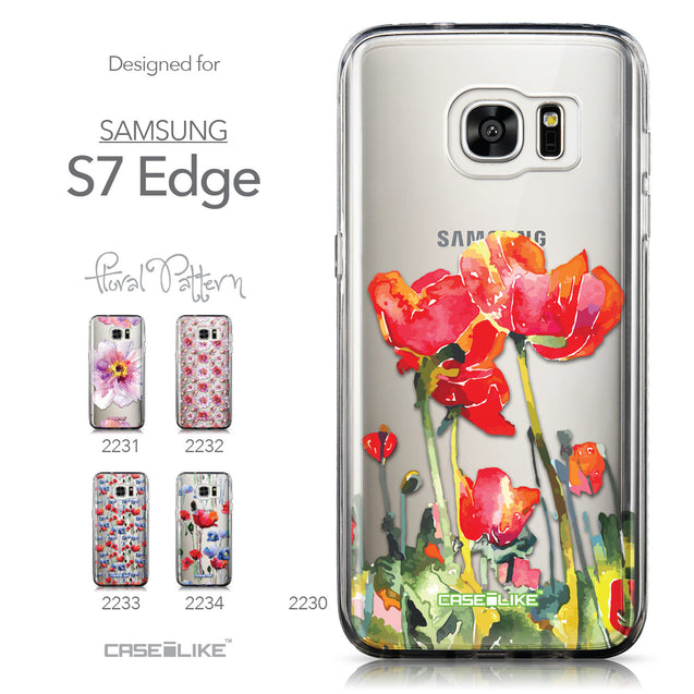 Collection - CASEiLIKE Samsung Galaxy S7 Edge back cover Watercolor Floral 2230