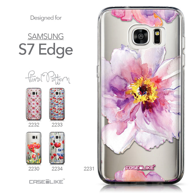 Collection - CASEiLIKE Samsung Galaxy S7 Edge back cover Watercolor Floral 2231