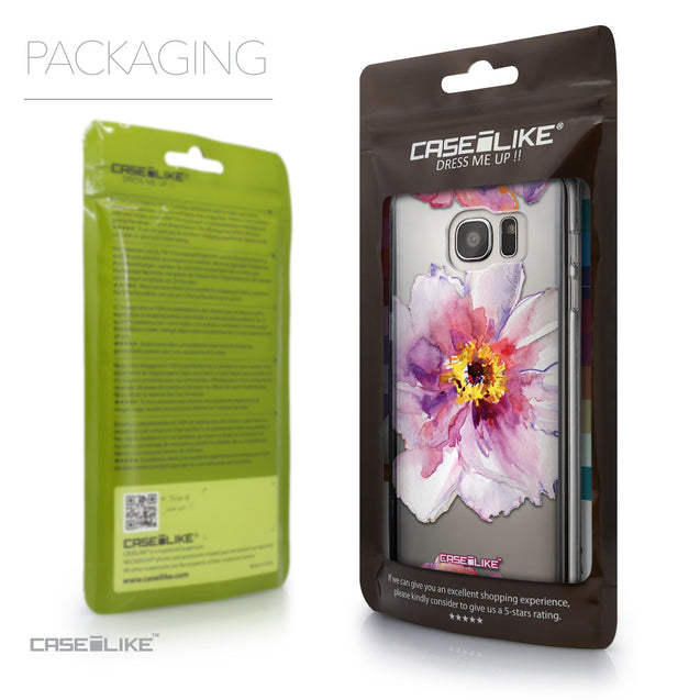 Packaging - CASEiLIKE Samsung Galaxy S7 Edge back cover Watercolor Floral 2231
