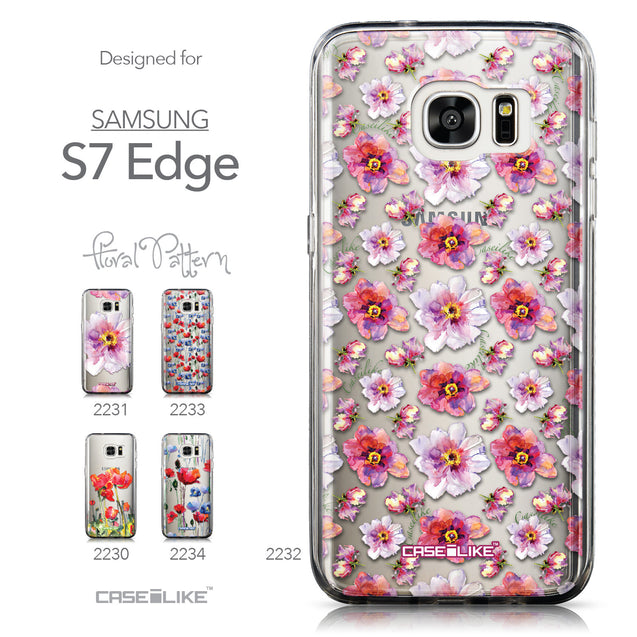 Collection - CASEiLIKE Samsung Galaxy S7 Edge back cover Watercolor Floral 2232