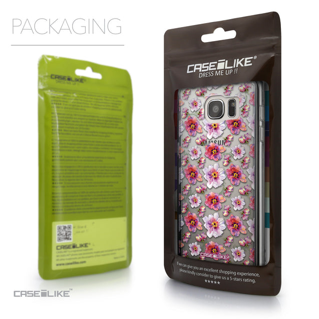 Packaging - CASEiLIKE Samsung Galaxy S7 Edge back cover Watercolor Floral 2232
