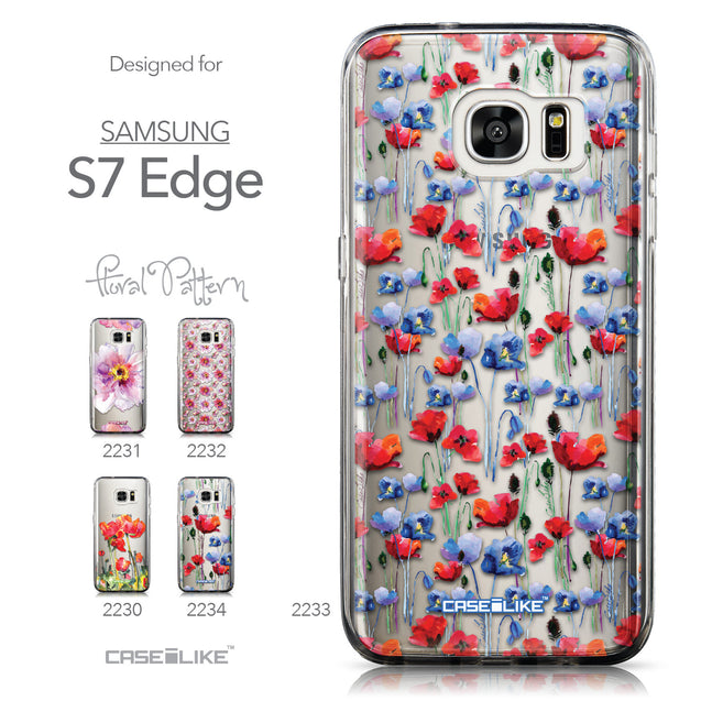 Collection - CASEiLIKE Samsung Galaxy S7 Edge back cover Watercolor Floral 2233