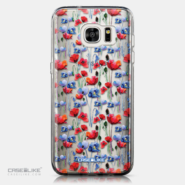 CASEiLIKE Samsung Galaxy S7 Edge back cover Watercolor Floral 2233