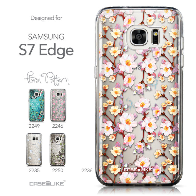 Collection - CASEiLIKE Samsung Galaxy S7 Edge back cover Watercolor Floral 2236