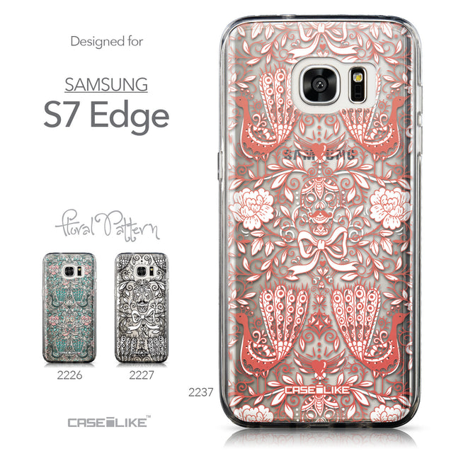 Collection - CASEiLIKE Samsung Galaxy S7 Edge back cover Roses Ornamental Skulls Peacocks 2237
