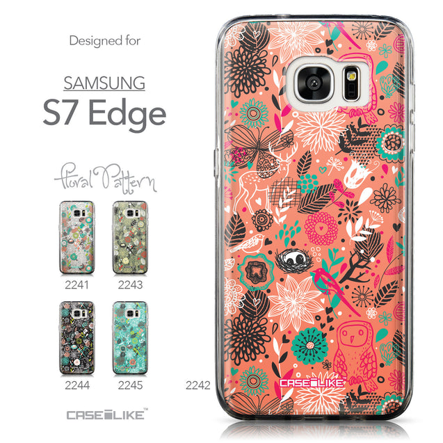 Collection - CASEiLIKE Samsung Galaxy S7 Edge back cover Spring Forest Pink 2242