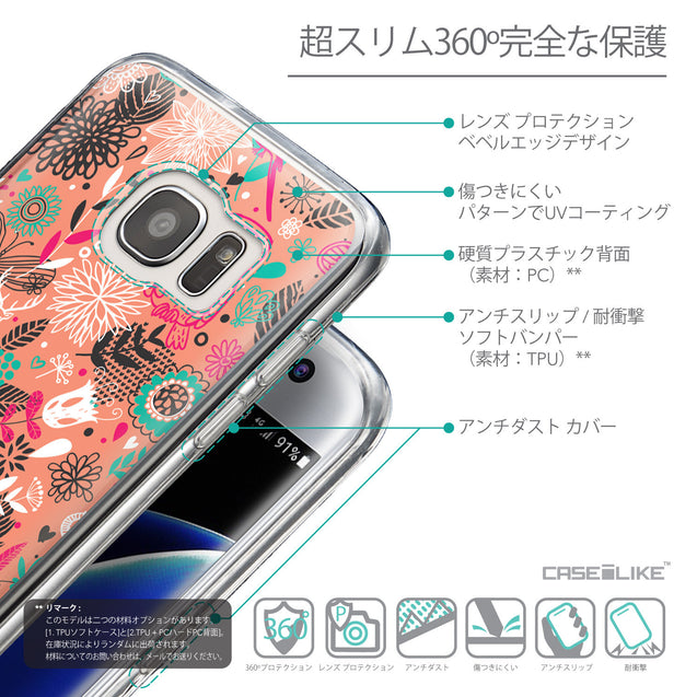 Details in Japanese - CASEiLIKE Samsung Galaxy S7 Edge back cover Spring Forest Pink 2242